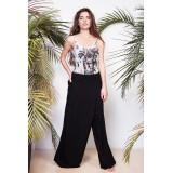 Loose trousers-skirt Black