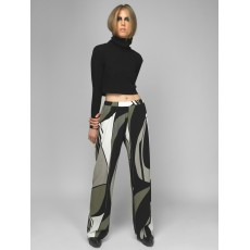 Olive loose trousers