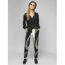 Olive cigarette trousers