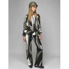 Olive flared jacket