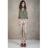 Floral cigarette trousers