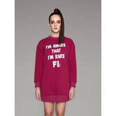 Rare μπορντο sweater-dress