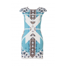 PORTO HELI BACK-ZIPPER DRESS