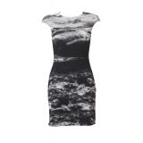 BLACK AEGEAN BACK-ZIPPER DRESS