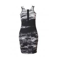BLACK AEGEAN BODYCON DRESS