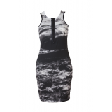 BLACK AEGEAN BODYCON DRESS
