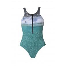 Polyaigos Athletic Zipper Double-Sided Swimwear