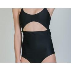 Black Front-cut monokini