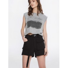 Sea-through crop top