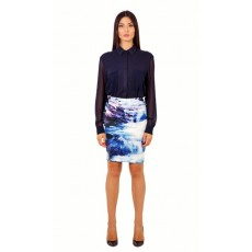 Waterfall pencil skirt