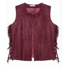Scarlet suede vest
